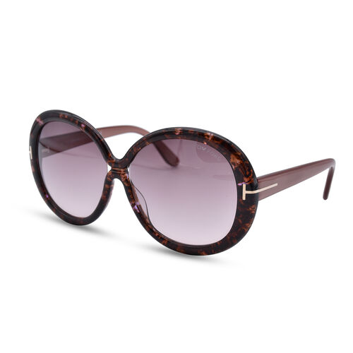JIMMIE CHOO Oversized Tort Sunglasses with Gradient Lenses
