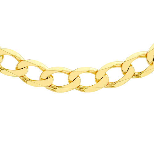 Hatton Garden Close Out Deal- 9K Yellow Gold Curb Chain (Size 20), Gold Wt. 24.40 Gms