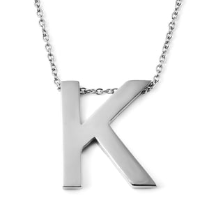 Initial K Necklace (Size - 20) in Stainless Steel