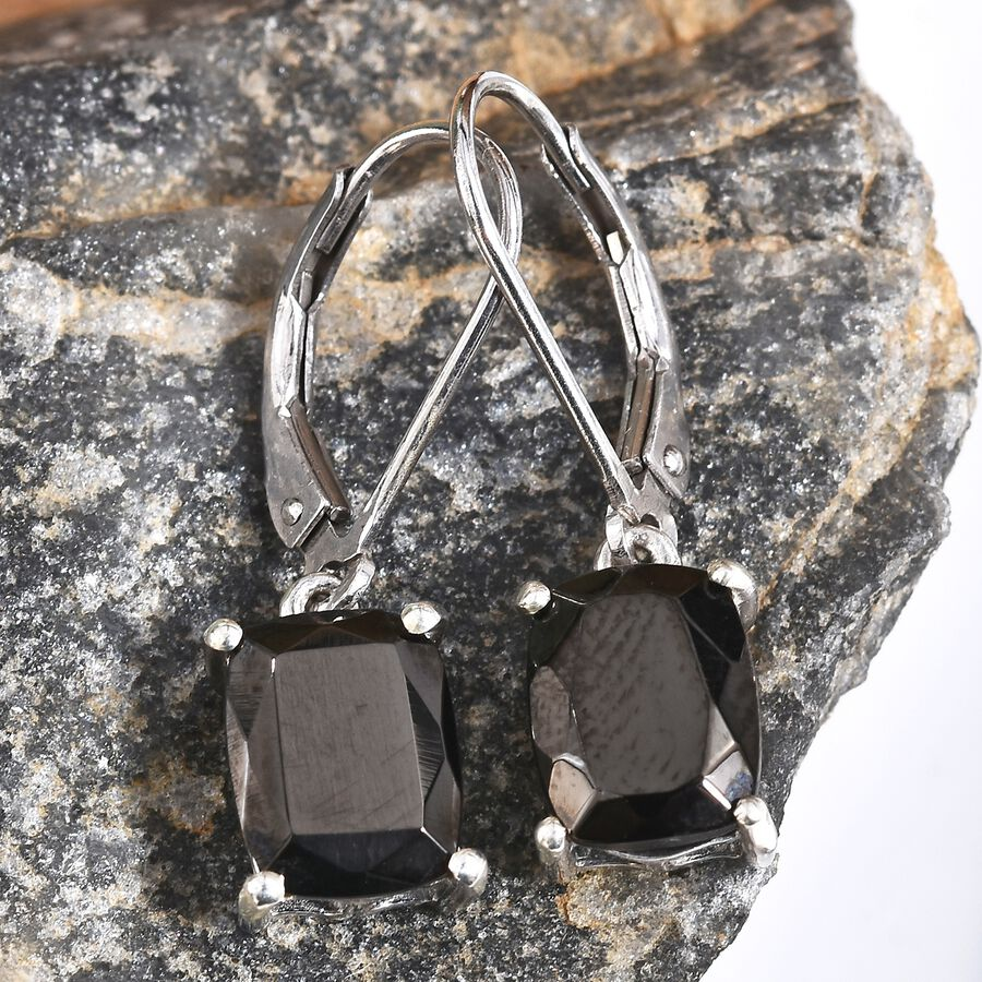 Silver Shungite (Cush) Lever Back Earrings in Platinum Overlay Sterling  Silver 2 500 Ct  - 3404019 - TJC