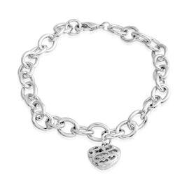 Diamond (Rnd) Bracelet (Size 7.5) in Silver Bond