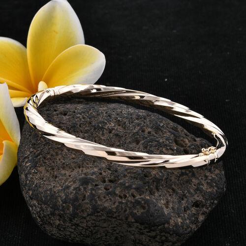 Royal Bali Collection 9K Yellow Gold Bangle (Size 7.5), Gold wt 8.73