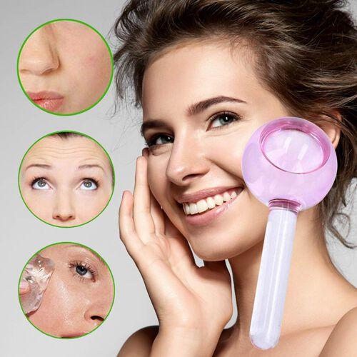 Facial Massage Ice Globes - Light Pink (Duo)