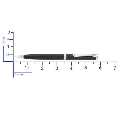 Set of 2 Pen with Simulated Diamond (Size 13.5 Cm) - Colour Black