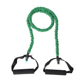 Resistence Band with Padded Handles (Size 120 Cm) Green Colour