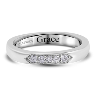 Personalised Engravable Rhapsody Diamond (0.10 Ct) 950 Platinum Ring  0.100  Ct.