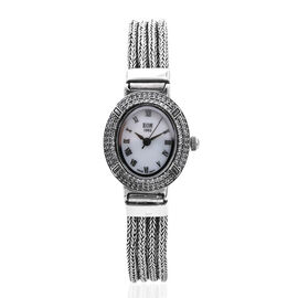 Royal Bali Collection - EON 1962 Swiss Movement White Topaz Studded Water Resistant Tulang Naga Brac
