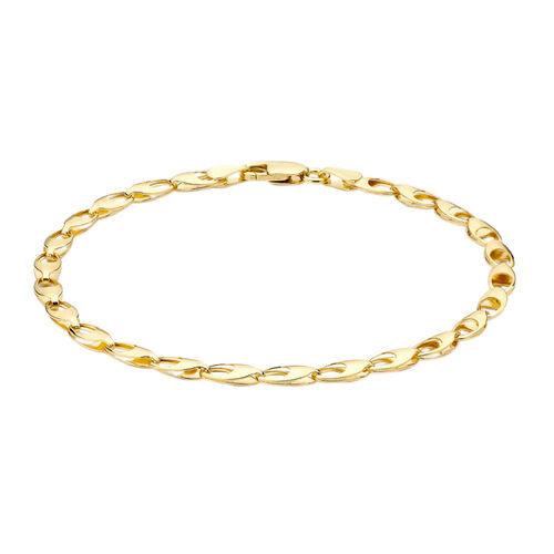 Hatton Garden Close Out Chain Bracelet in 9K Gold 7.25 Inch
