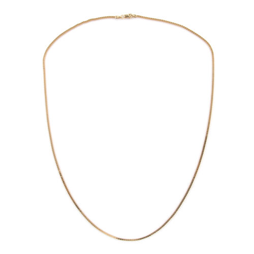 Royal Bali Collection 9K Yellow Gold Box Necklace (Size 20).Gold Wt 3.00 Gms