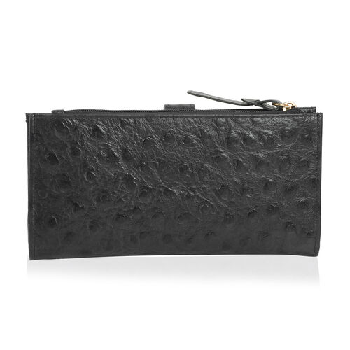 100% Genuine Leather Black Colour Wallet With RFID Blocking (Size 19x2.5x10 Cm)