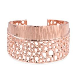RACHEL GALLEY Ocean Enkai Cuff Bangle in Rose Gold Plated Sterling Silver 74.57 Grams size 7.5 Inch