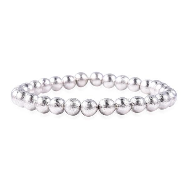 136.51 Ct Meteorite Beaded Bracelet 6.5 Inch