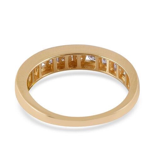 ILIANA 18K Yellow Gold IGI Certified Diamond (Rnd) (SI/G-H) Half Eternity Ring 1.000 Ct.
