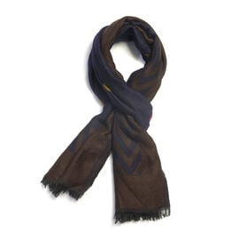 Super Luxurious Blue and Brown Blend Colour Scarf (Size 185x70 Cm)