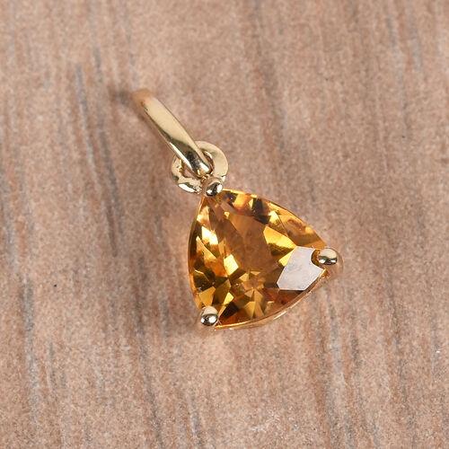 9K Yellow Gold AA Citrine Pendant 0.40 Ct.