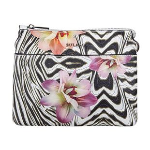 Bulaggi Collection - Zebraflower Crossbody Bag with Zipper Closure (Size 21x17x4 Cm) - Multi