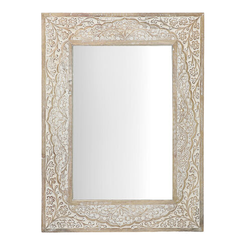 NAKKASHI - Saharanpur Collection - Hand Carved Solid Wood Mirror (Size 61x45.5x2.5 Cm)