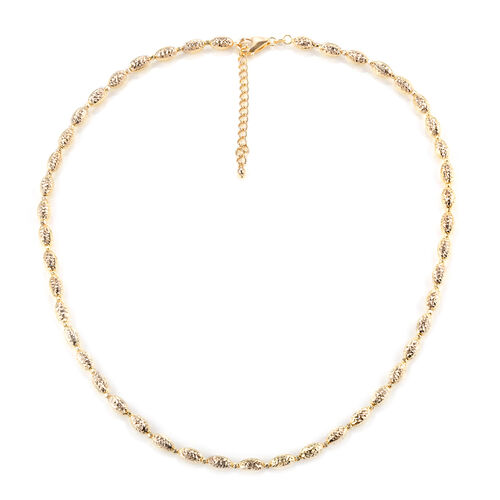 9K Yellow Gold Necklace (Size 18 with 2 inch Extender), Gold wt 9.64 Gms.