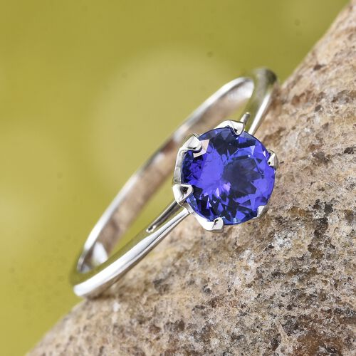 RHAPSODY 950 Platinum AAAA Tanzanite (Rnd) Solitaire Ring 1.500 Ct.
