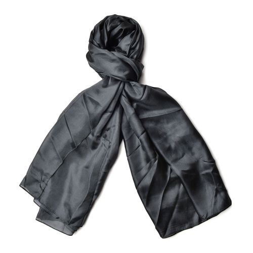 100% Mulberry Silk Kale Green Colour Scarf (Size 180x110 Cm)