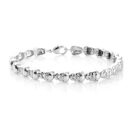 Skull Bracelet (Size 7.5) in Platinum Plated