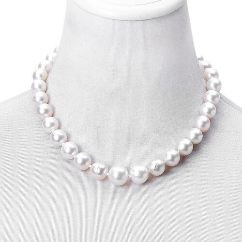 Signature Collection-ILIANA 18K White Gold South Sea White Pearl (Rnd 9-15mm) Necklace (Size 18)
