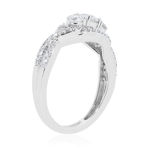 NY Close Out 14K White Gold Diamond (Rnd) (I1-I2/G-H) Ring  0.900 Ct.Size N