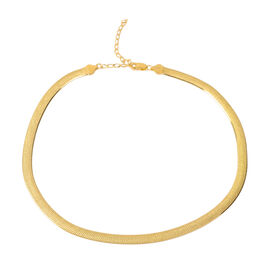 JCK Vegas Collection - Gold Overlay Sterling Silver Mesh Necklace (Size 17 with 3 inch Extender), Si