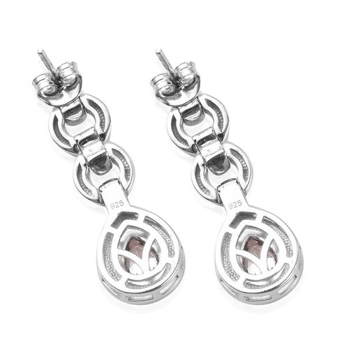 J Francis - Platinum Overlay Sterling Silver Enamelled Drop Earrings (with Push Back) Made with SWAROVSKI ZIRCONIA