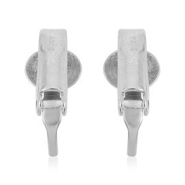 Rhodium Overlay Sterling Silver Clip On Earring Converter