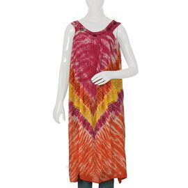 Pink and Multi Colour Dress (Size 116x132 Cm)