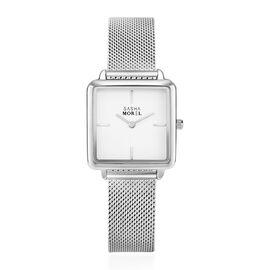 SASHA MOREL Sorrento Mesh Watch - Silver