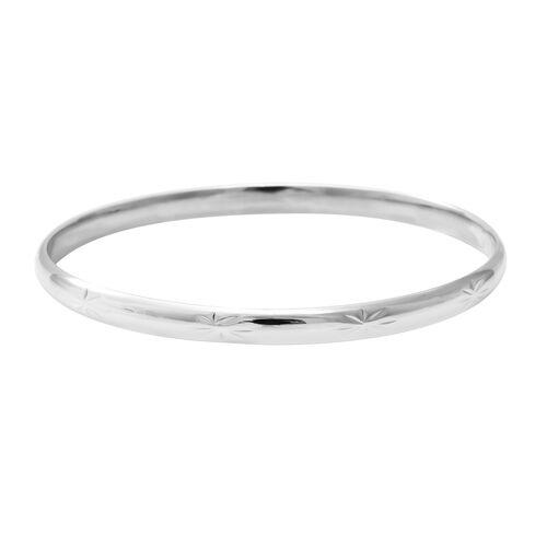 Designer Inspired-  Sterling Silver Bangle (Size 7.5), Silver wt. 7.10 Gms
