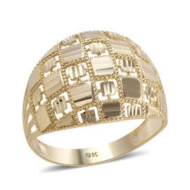 Royal Bali Collection - 9K Yellow Gold Dome Ring