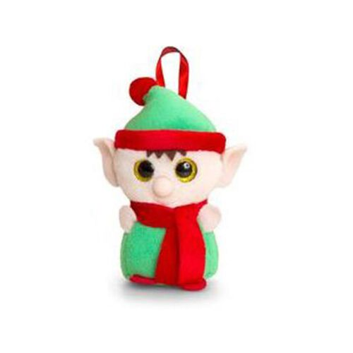 Keel Toys - Green, Red and Light Peach Colour Elf Toy (Size 10 Cm)