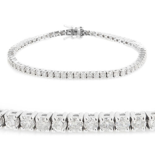 New York Close Out 5 Carat Diamond Tennis Bracelet in 14K White Gold 13 Grams I2 GH Size 7.25 Inch