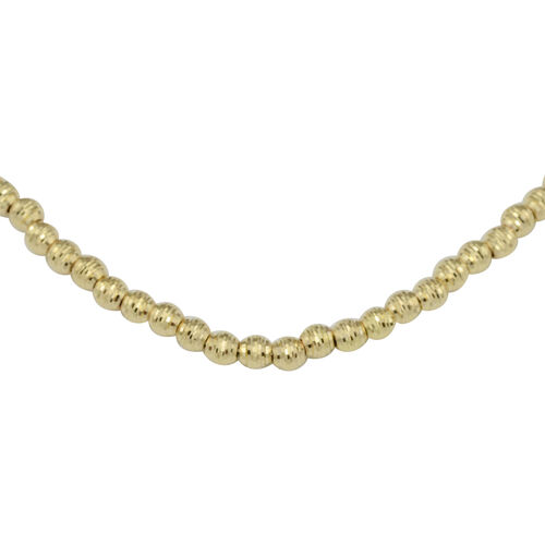 Hand Made Diamond Cut Chain Necklace in 9K Yellow Gold 7.80 Grams 17 with 1 inch Extender