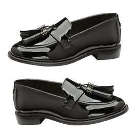 Ravel Black Levin Patent Leather Low Heel Loafers