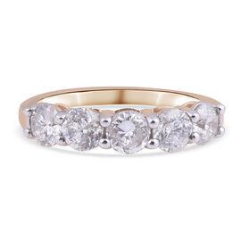 14K Yellow Gold Diamond (I1-I2/ G-H) Ring 2.00 Ct.
