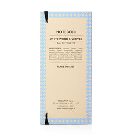 Notebook Fragrances: White Wood & Vetiver Eau De Toilette - 100ml