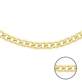 Hatton Garden Close Out - 9K Yellow Gold Curb Necklace (Size 24), Gold wt 8.36 Gms.