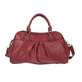 Super Soft  Tote Handbag with Detachable Shoulder Strap and Zipper Closure (Size 39.5x13x23cm) - Bur