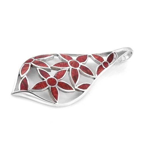 Royal Bali Collection Coral Flower Pendant in Sterling Silver