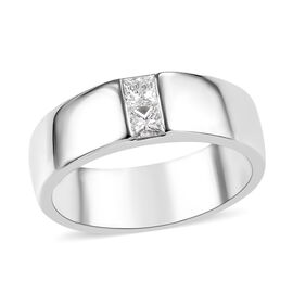 RHAPSODY 950 Platinum IGI Certified Diamond (Sqr) (VS/E -F) Ring 0.30 Ct, Platinum wt 10.88 Gms.