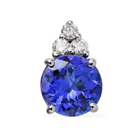 Rhapsody AAAA Tanzanite (0.94 Ct) and Diamond 950 Platinum Pendant  1.000  Ct.