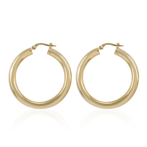 Royal Bali Collection 9K Yellow Gold Hoop Earrings (with Clasp) Gold Wt 3.00 Grams