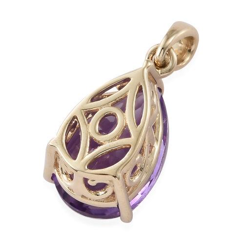 Moroccan Amethyst (3.00 Ct) 9K Y Gold Pendant  3.000  Ct.