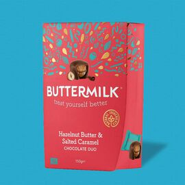 Buttermilk 1 x 150g Hazelnut Butter & Salted Caramel Chocolate Duo