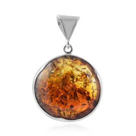 Baltic Amber Pendant in Sterling Silver, Silver wt 19.00 Gms