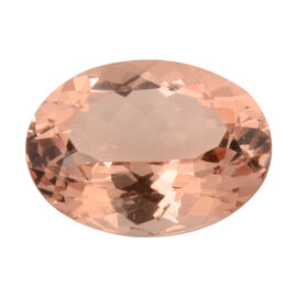 AAAA IGI Certified Morganite Faceted Oval 16.05x12.05 (Depth - 7.71mm) 8.86 Cts